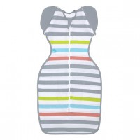Love To Swaddle UP™ 50/50 Summer Lite Multi Stripe M - 6-8.5kg