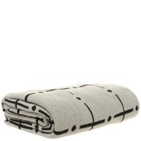 Cotton Knitted Throw Blanket in Grey