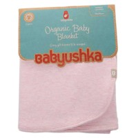 Babyushka Organic Essentials Double-Sided Blanket in Pink Marle