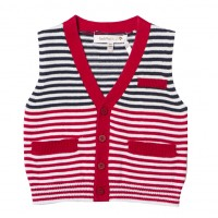 Fox & Finch Nashville Striped Button Thru Knit Vest