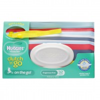 HUGGIES® Baby Wipes Clutch N Go Travel Pack 32pc