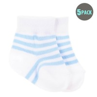 5pk Snugzeez Blue Striped Socks