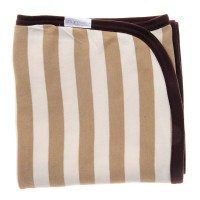 Double Layered Stripe Blanket in Natural