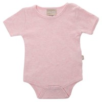 Babyushka Organic Essentials Short Sleeve Onesie in Pink Marle