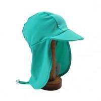 Bebe by Minihaha UPF50+ Legionnaire Swim Hat In Capri Green