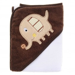 Hooded Towel - Brown Elephant