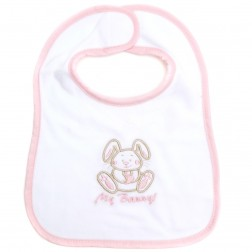 My Bunny Embroidered Velour Bib