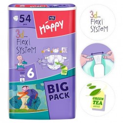 Bella Baby Junior Extra Nappies 16kg+ BIG PACK 54pc