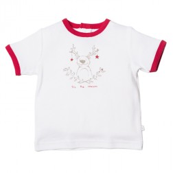 Bebe by Minihaha Christmas Graphic Ringer Tee