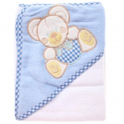 Hooded Towel - Blue Bear