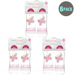 6-Pack BPA Free Easy Grip Bottle in Pink Butterfly