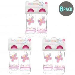 6-Pack BPA Free Easy Grip Bottle in Pink Butterfly