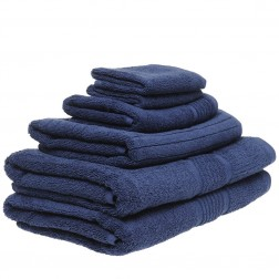6 Piece Towel Set in Navy