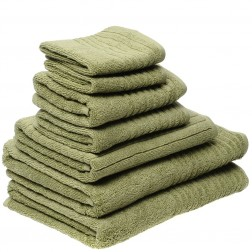 7 Piece Luxury 600GSM Towel Set in Pistachio