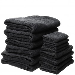 14 Piece Luxury 600GSM Towel Set in Charcoal
