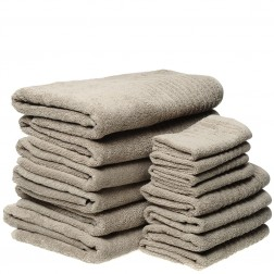 14 Piece Luxury 600GSM Towel Set in Taupe