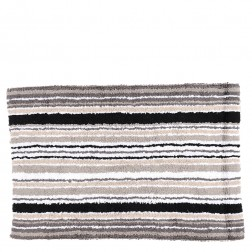 Cotton Tufted Bath Mat in Charcoal Combo