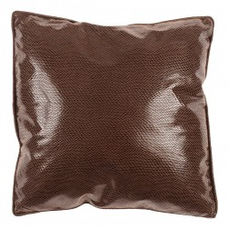 Vinyl Collection Cushion in Chocolate 40 x 40cm
