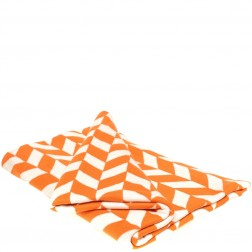 Cotton Knitted Throw Blanket in Geo