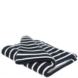 Cotton Knitted Throw Blanket in Stripe
