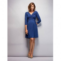 Emily Maternity Dress in French Navy