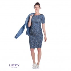 Liberty Print Maternity T-Shirt Dress