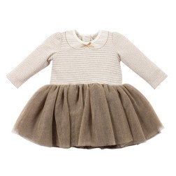 Fox & Finch Florence Gold Stripe Tutu Dress