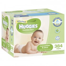 HUGGIES® Baby Wipes Cucumber & Aloe 384pc MEGA PACK