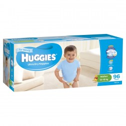 HUGGIES® Nappies Walker 13-18kg Boy 96pk MEGA