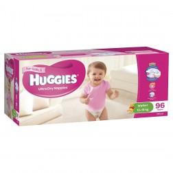 HUGGIES® Nappies Walker 13-18kg Girl 96pk MEGA