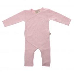 Babyushka Organic Essentials Kimono Jumpsuit in Pink Marle