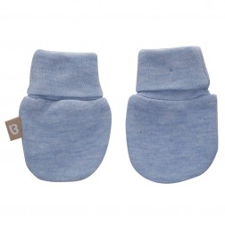 Babyushka Organic Essentials Mittens in Blue Marle