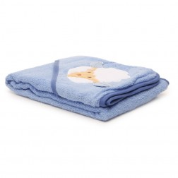 Hooded Towel - Blue Sheep