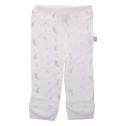 Babyushka Organic Essentials Pant in Grey Leaf Print