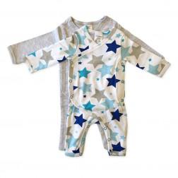 Kimono Jumpsuit Set in Grey Star