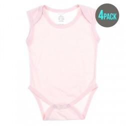 4 Pack Essentials Sleeveless Bodysuit in Pink