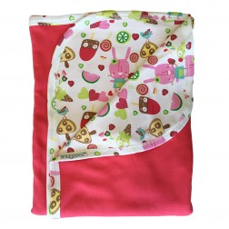 Reversible Hooded Blanket in Pink Popsicle