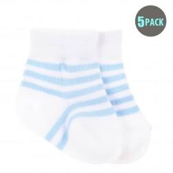 5pk Snugzeez Blue Striped Socks