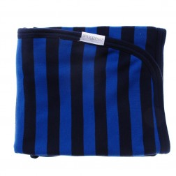 Double Layered Stripe Blanket in Navy