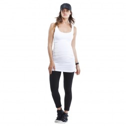 Maternity Layering Tank in Pure White