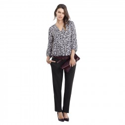 Hailey Relaxed Maternity Pant in Caviar Black