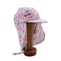 Bebe by Minihaha UPF50+ Celeste Print Legionnaire Swim Hat