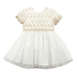 Bebe by Minihaha Special Occasions S/S Gold Mesh Dress